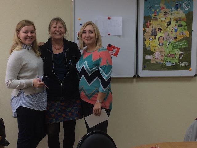 Drei kolleginnen