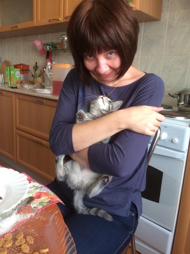 Tanja mit Katze