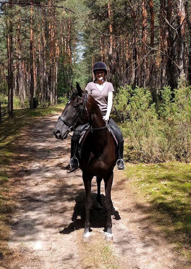 Katarzyna auf Pferd